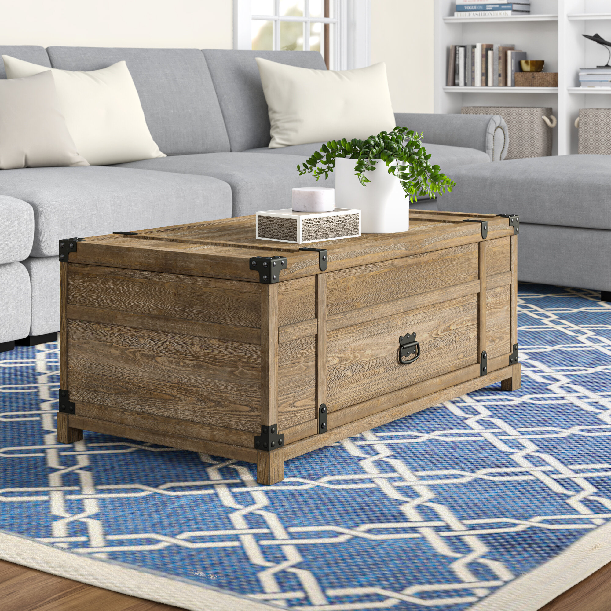 Three Posts Kanagy Coffee Table With Storage Reviews Wayfair