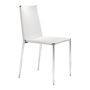 Dartmouth Dining Chair with Leatherette Seat (Set of 4) Ebern Designs