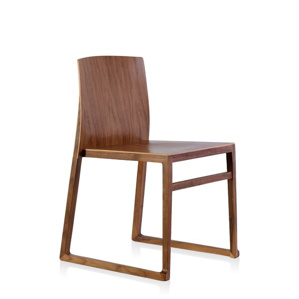 Modern Contemporary Wood Sled Base Dining Chair Allmodern