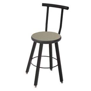 24 Round Laminate Armor Edge Seat 4 Leg Stool with Backrest by WB Manufacturing