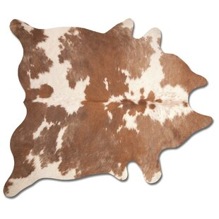 Compare Lebron Hand Woven Brown/White Cowhide Area Rug By Laurel Foundry Modern Farmhouse