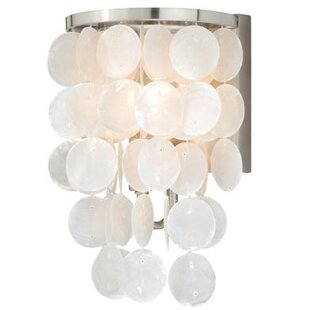 Best Kym Capiz Shell 1-Light Bath Sconce By Beachcrest Home