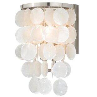 Purchase Kym Capiz Shell 1-Light Bath Sconce By Beachcrest Home