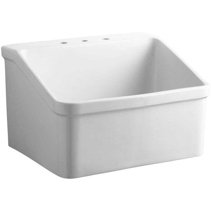 Kohler Hollister 28 X 22 Wall Mounted Laundry Sink Wayfair
