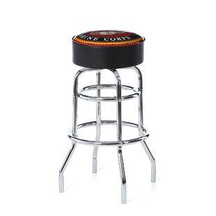 United States Marine Corps 31 Swivel Bar Stool by Trademark Global 2019 Coupon