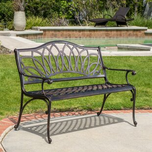 Check Out Upper Swainswick Spiral Cast Aluminum Outdoor Bench Compare