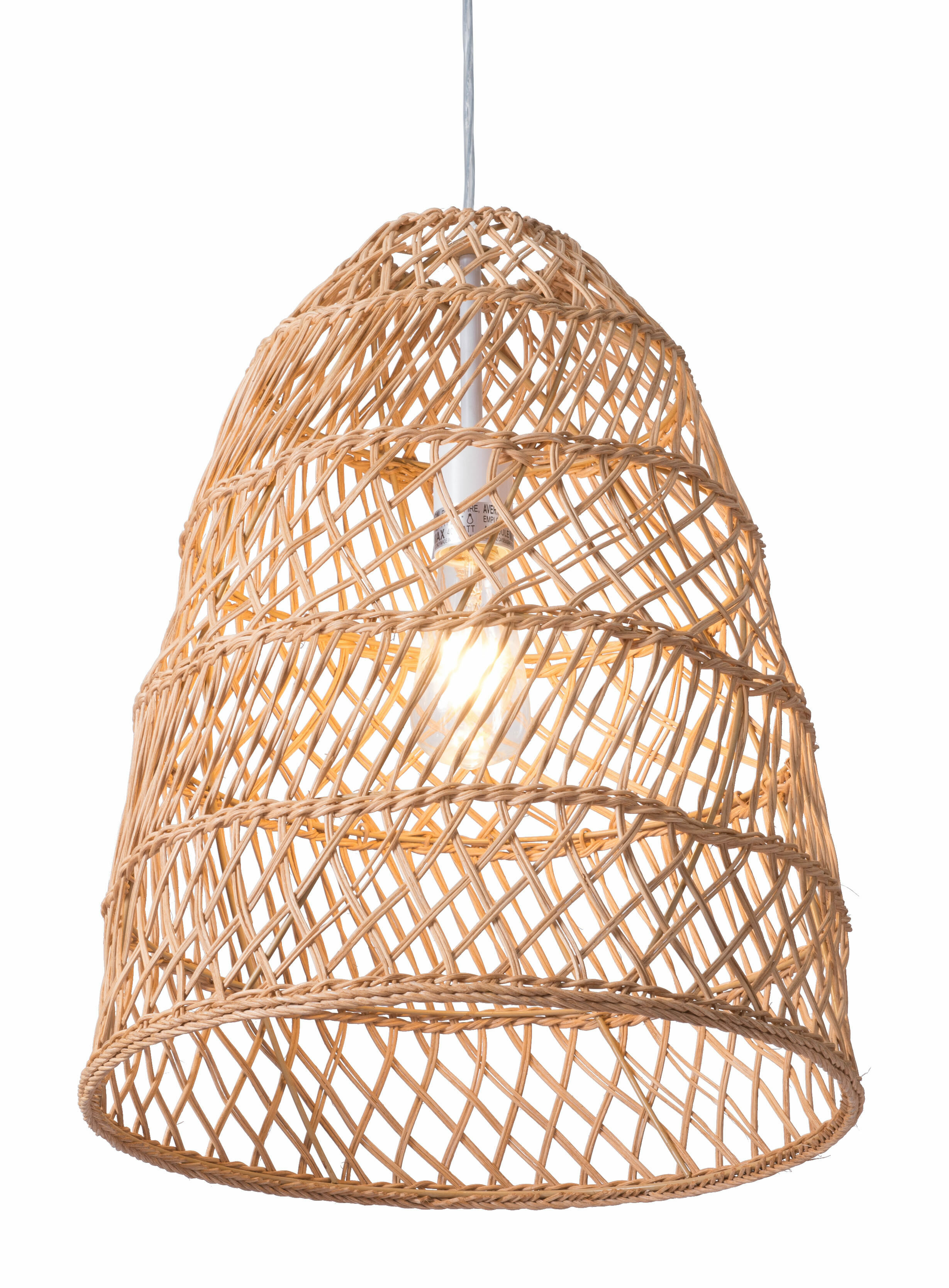 Bayou Breeze 1 Light Single Cone Pendant With Rope Accents Wayfair