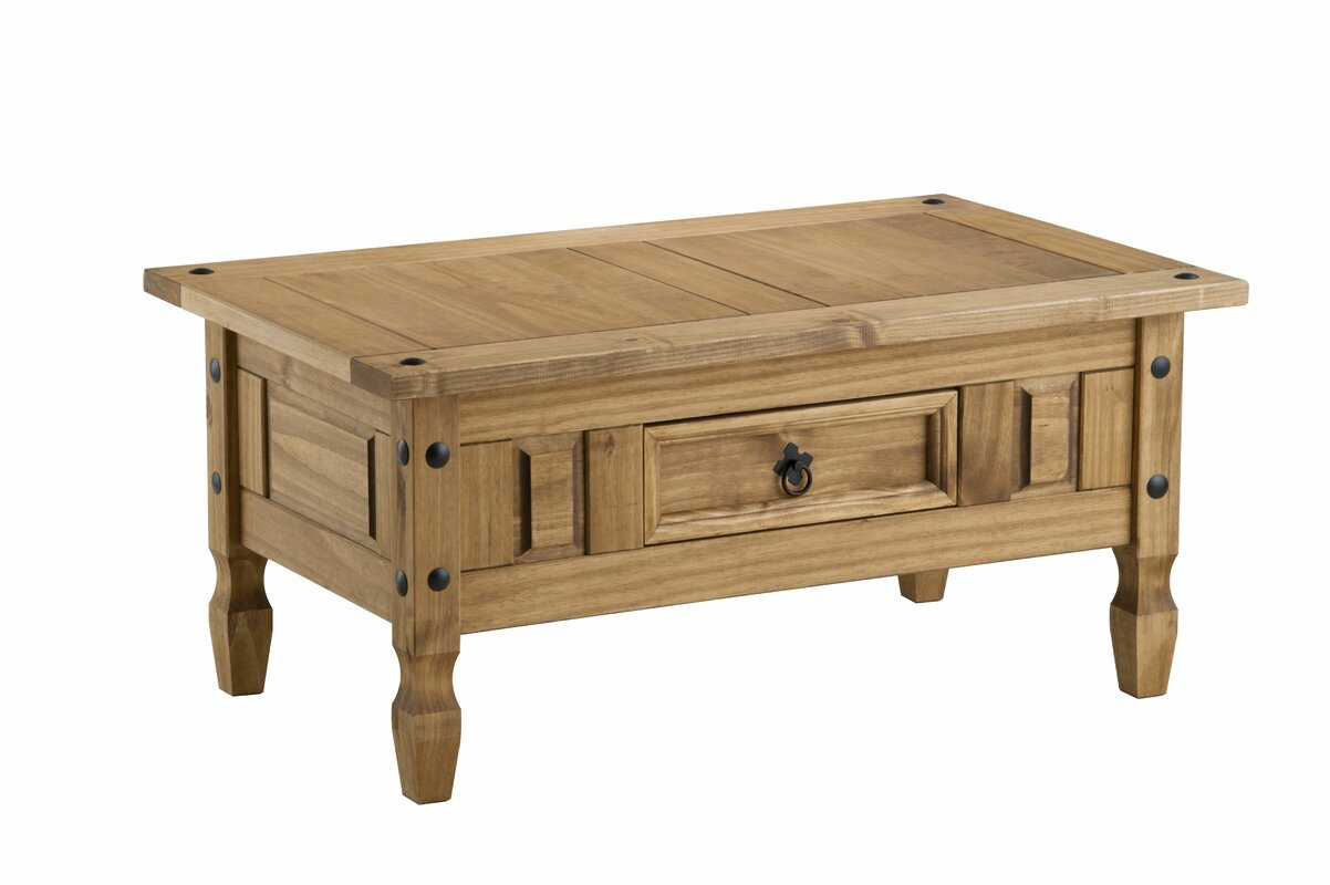 traditional corona coffee table with storage