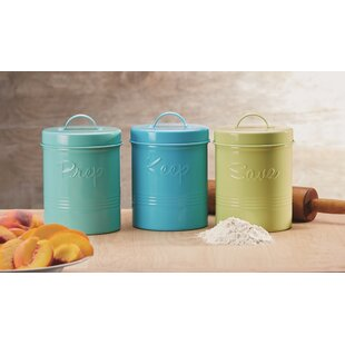 Metal Kitchen Canister Set (Set of 3)