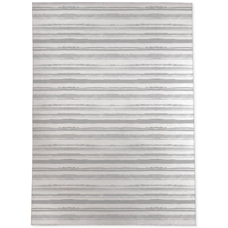 Highland Dunes Feldman Watercolor Stripe Gray Light Gray Area Rug Wayfair