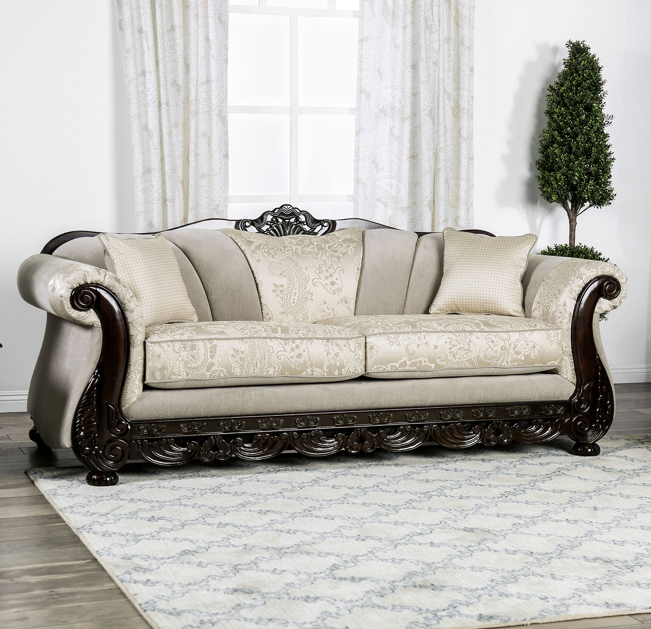 Astoria Grand Renda Rolled Arms Sofa
