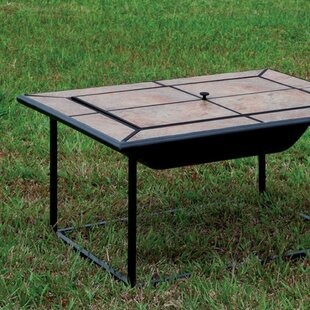 Benzara Benawa Cast Iron Fire Pit Table