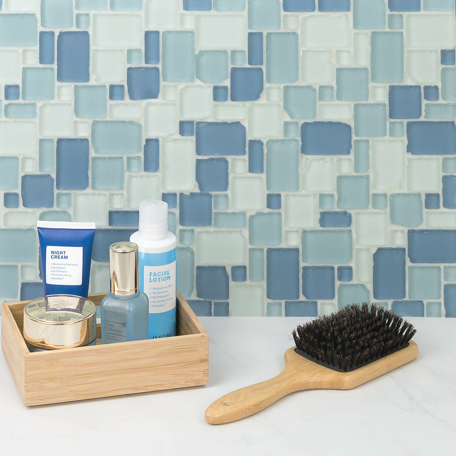 Ivy Hill Tile Ocean Wave French Beached Random Sized Glass Mosaic Tile In Blue Reviews Wayfair