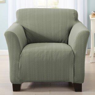 Darla Box Cushion Armchair Slipcover By Home Fashion Designs