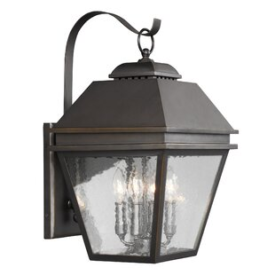 Compare prices Daughtrey 4-Light Outdoor Wall Lantern By Three Posts