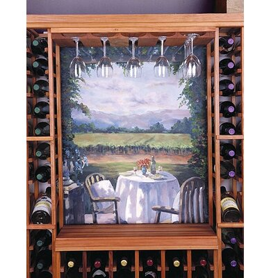 Wine Cellar Innovations Designer Series Hanging Wine Glass Rack Finish: Classic Stained Premium Redwood