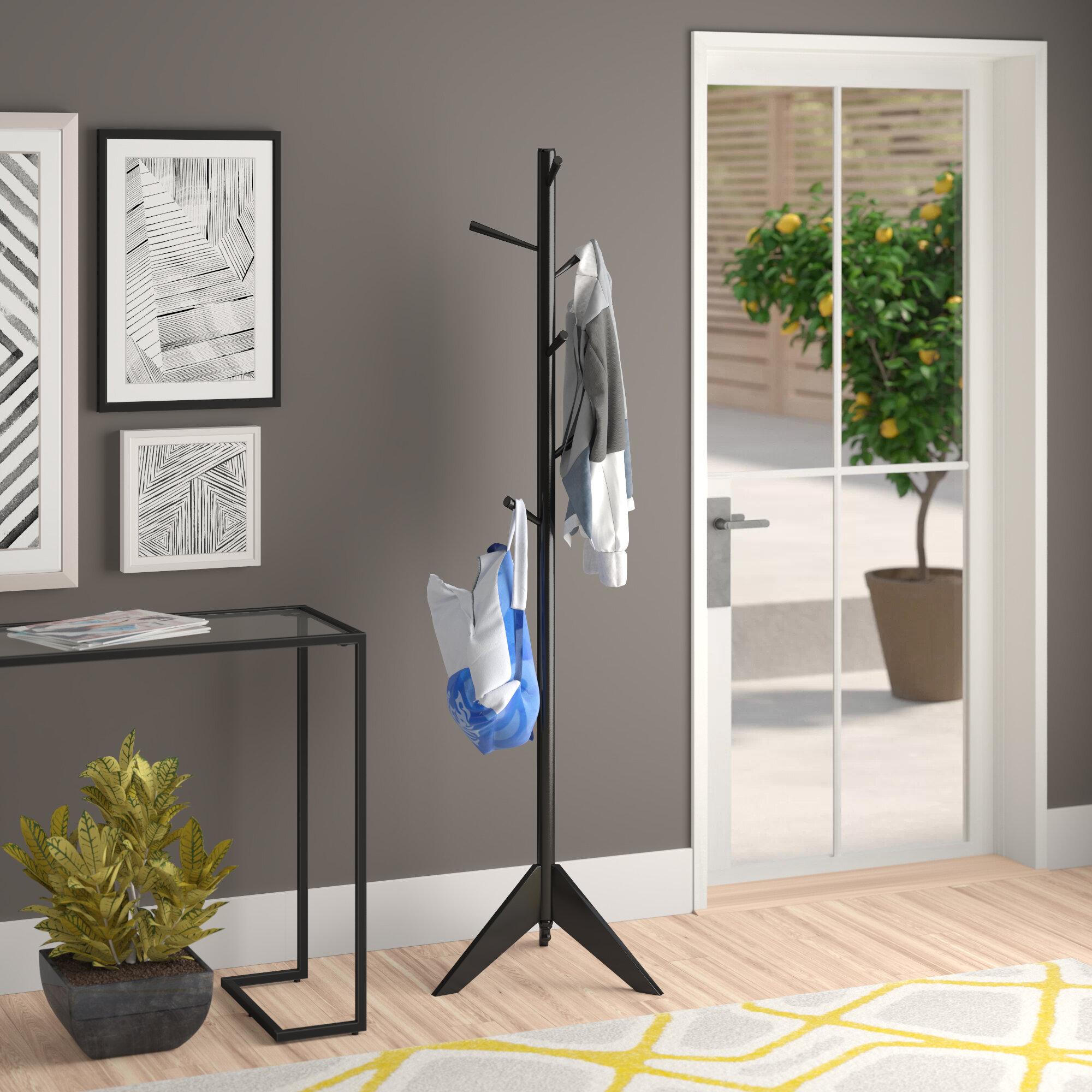Zipcode Design™ Freestanding Wood Coat Rack & Reviews | Wayfair