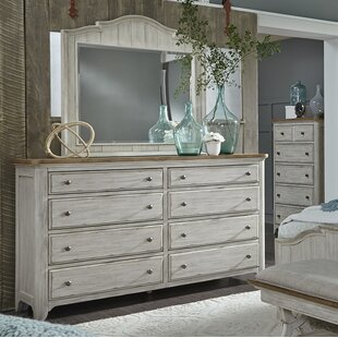 Clairmont 8 Drawer Double Dresser with Mirror