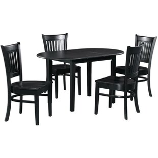 Spillers 5 Piece Extendable Solid Wood Dining Set Spacial Price