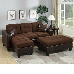 Park Ridge Reversible Sectional with Ottoman