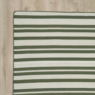 New Portland Hand-Loomed Olive Indoor/Outdoor Area Rug
