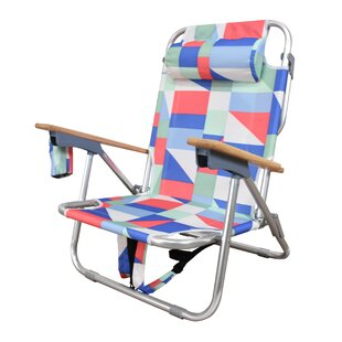 Brayden Studio Regalado Reclining Beach Chair with Cushion