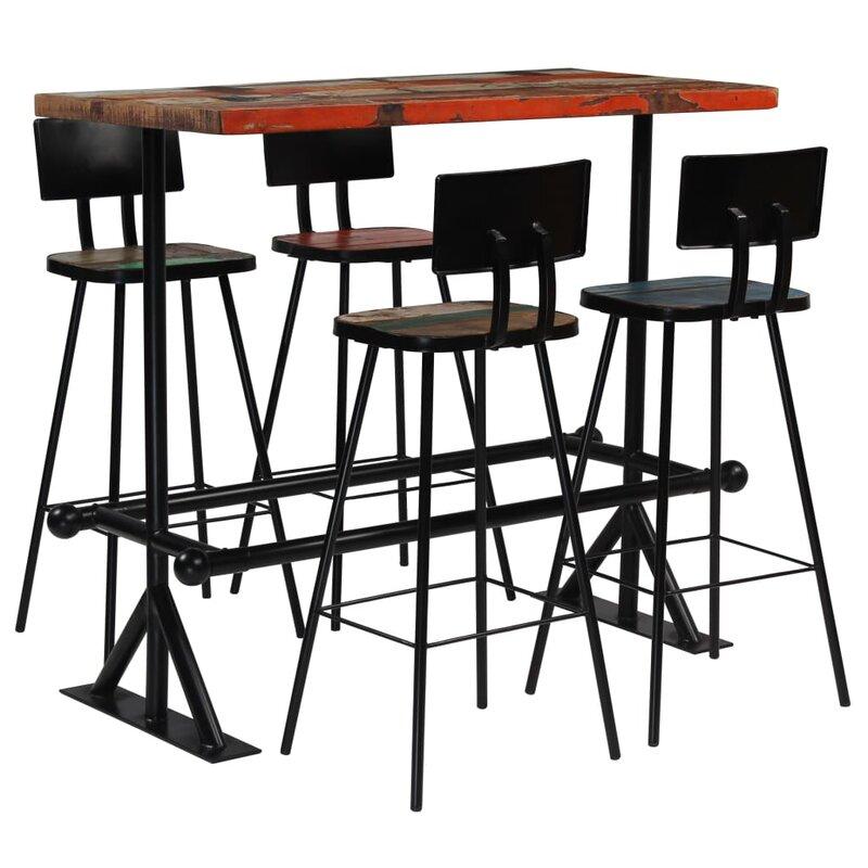 Williston Forge Essgruppe Pershore mit 4 Stühlen