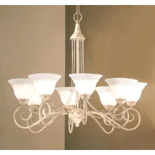 Torino 8-Light Shaded Chandelier by Classic Lighting