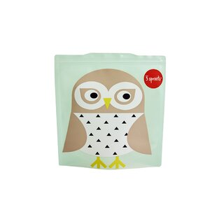 3 Sprouts Owl Sandwich Bag (Set of 2)