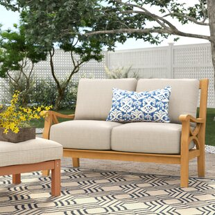 Brunswick Teak Loveseat with Cushions by Birch Lane? Heritage