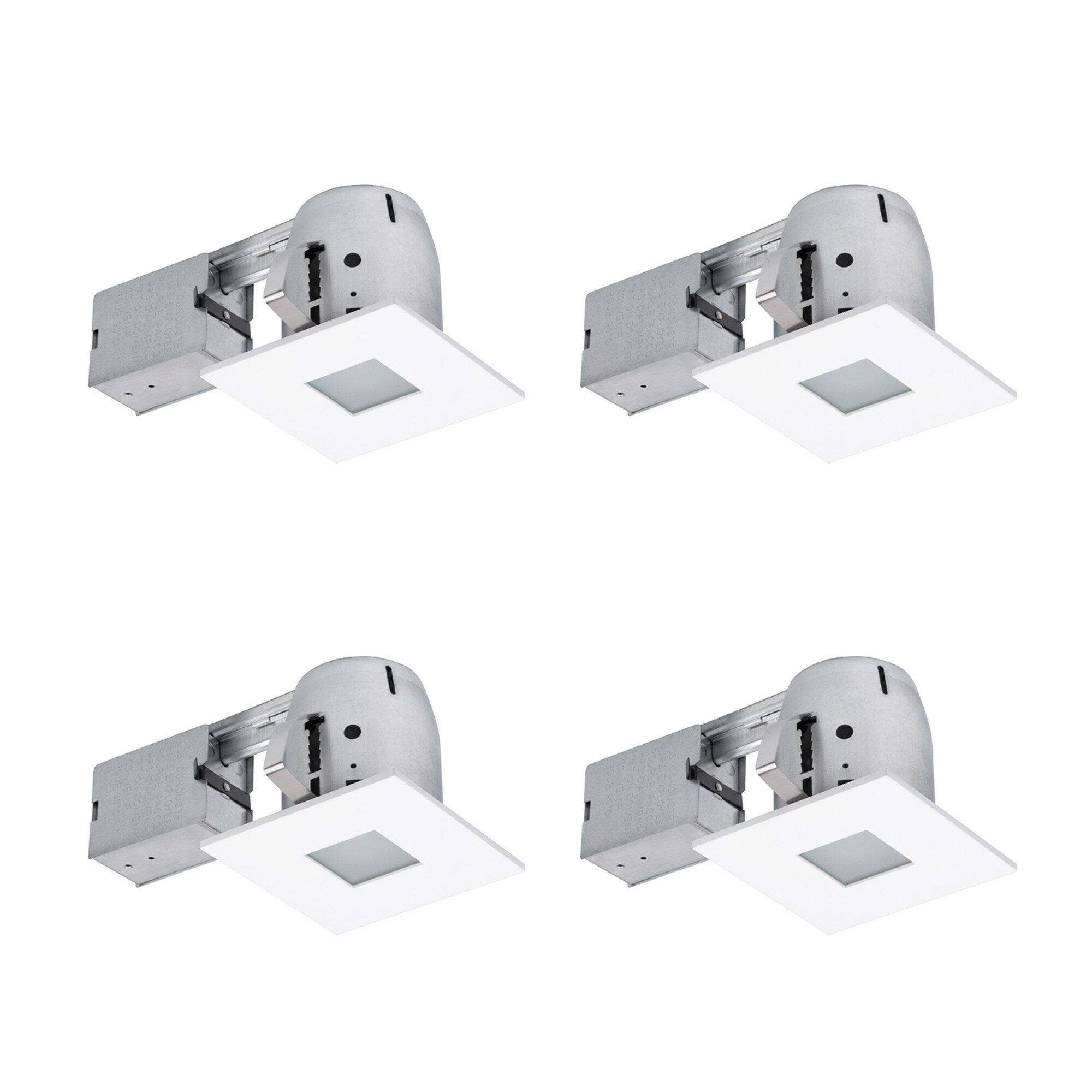 Ryanne Bathroom Square 4 Recessed Lighting Kit