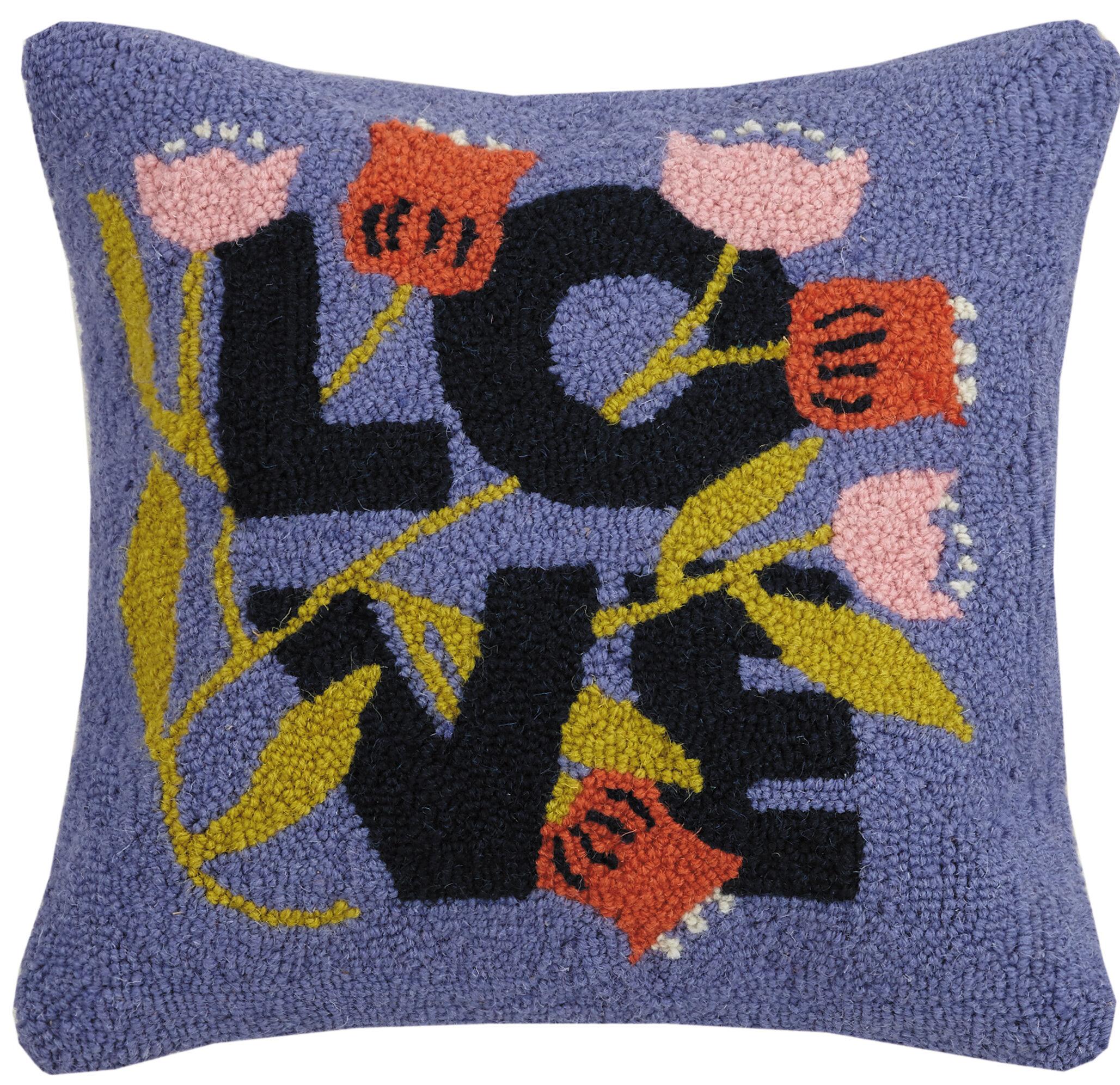 Makers Collective Love Wool Throw Pillow Wayfair