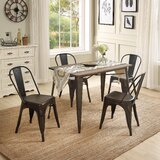 Emiliah 5 Piece Solid Wood Dining Set by Williston Forge