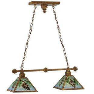 Meyda Tiffany Reverse Painted Balsam Pine 2-Light Pendant