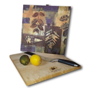 Leaves in Blue 12 x 12 Cutting Board By WGI-GALLERY