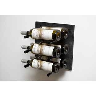Black 6 Bottle Wall Mounted Wine Rack by ..