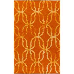 Organic Julia Hand-Tufted Orange/Gold Area Rug