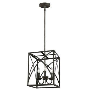 Gracie Oaks Jalonte 3-Light Square/Rectangle Pendant