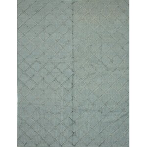 Bonefield Kilim Slate Blue Area Rug