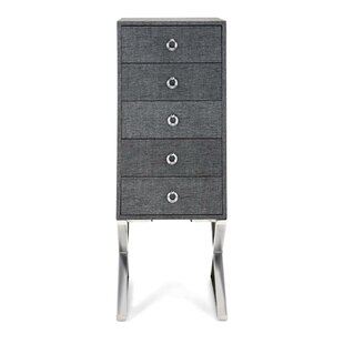 Wattson Wood and Metal 5 Drawer Accent Chest by Mercer41
