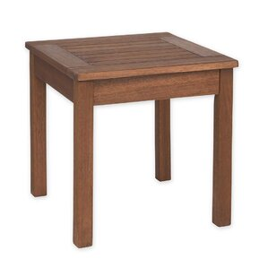 Slatted Wood End Table by Plow & Hearth