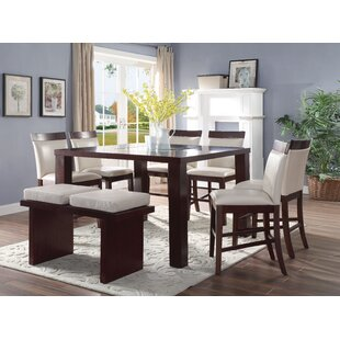 Harker 8 Piece Counter Height Dining Set by Charlton Home