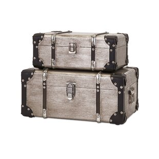 Cavour Refined Aluminum Clad 2 Piece Trunk Set