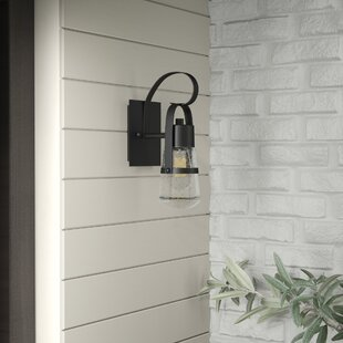 industrial outdoor lighting wall lisabeth 1light outdoor sconce industrial wall lighting youll love wayfair