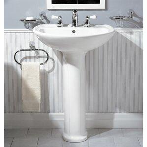 Cadet 24.5  Pedestal Bathroom Sink with Overflow & Pedestal Sinks Youu0027ll Love islam-shia.org