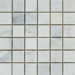 """Oriental Honed 12"""" x 12"""" Marble Mosaic Tile by"""