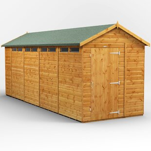 6 Ft. W X 18 Ft. D Solid Wood Garden Shed By WFX Utility