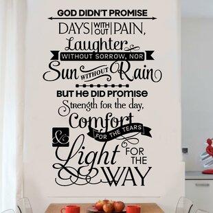 Godu0027s Promises Religious Christian Vinyl Letter Word Wall Decal
