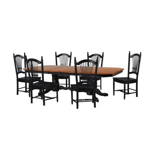 Banksville 7 Piece Dining Set Loon Peak
