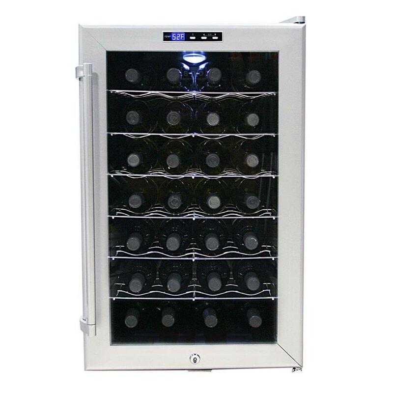28 bottle single zone wine cooler